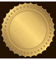Golden blank label vector image vector image