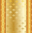 Golden Frame With Golden Decorations vector image vector image