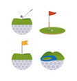 golf sport cartoons vector image