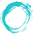 green brush stroke circular shape vector image vector image
