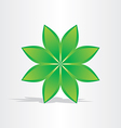 green flower abstract design vector image