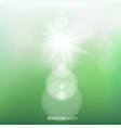 green spring sunshine light background vector image vector image