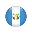 guatemala flag on button vector image vector image
