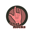 Hand in that rocks sign vector image vector image