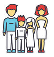 happy family parents with kids father mother vector image vector image