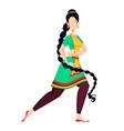 happy onam indian woman dancing vector image vector image