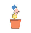 investment concept money plant glow icon vector image