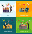 kids show concept icons set vector image vector image