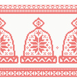 Knitted Cap Seamless Pattern in Red Color vector image vector image