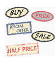 labeling since sale goods vector image