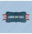 Labor Day Sale national Emblem vector image vector image