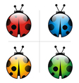 ladybug animal logo design vector image vector image