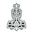 mjollnir thors hammer is an amulet vikings vector image vector image