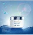 moisturizing cream with vitamins aqua vector image vector image