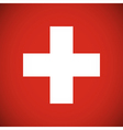 national flag switzerland vector image vector image