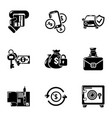 needful icons set simple style vector image vector image
