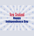new zealand independence day festive banner vector image