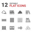 pile icons vector image vector image