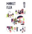 poster template for flea market or rag fair vector image