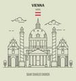 saint charles church in vienna vector image vector image