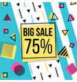 sale banner design social media banner with vector image vector image