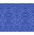seamless blue leopard pattern vector image