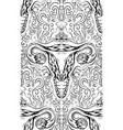 seamless pattern with contour sketch uterus vector image vector image