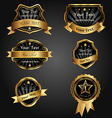 Set black gold-framed labels vector | Price: 1 Credit (USD $1)