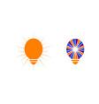 set of light bulb design logo template vector image vector image