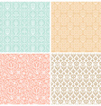 set of seamless patterns in trendy linear style vector image vector image