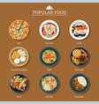 set popular food vector image vector image