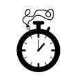 silhouette black of stopwatch graphic vector image vector image