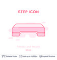 step icon isolated on white vector image vector image