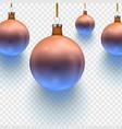 stock christmas ball two vector image vector image