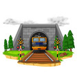 train ride on the railroad vector image vector image