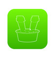 washing in the basin icon green vector image vector image