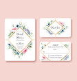 wedding invitation thank you rsvp card vector image