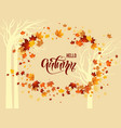yellow fall background vector image vector image