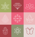 beauty and spa line logos vector image
