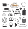 Vintage bakery elements vector image
