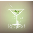 Cocktail background with martini glass vector image