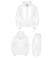 Plain training hoodie template vector image