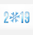 2019 new year sign vector image vector image