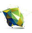 3D abstract asymmetric technology colorful vector image vector image