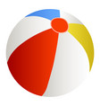 a beach ball vector image vector image