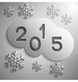 abstract grey circles for the New Year 2015 vector image vector image