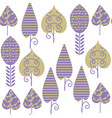 abstract leaves seamless pattern it is located in vector image vector image