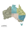 australia higt detailed map with subdivisions