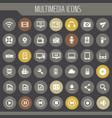 big multimedia icon set trendy flat icons vector image