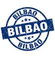 bilbao blue round grunge stamp vector image vector image